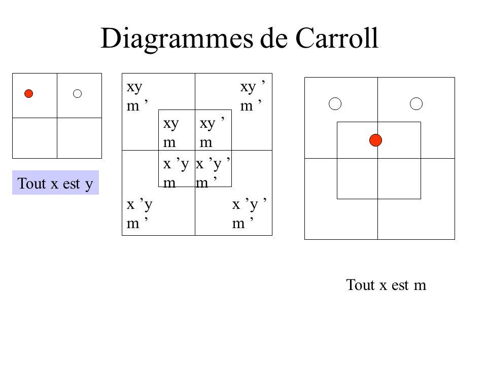Diagrammes de Carroll xy m ' xy ' m ' xy m xy ' m x 'y m x 'y ' m '