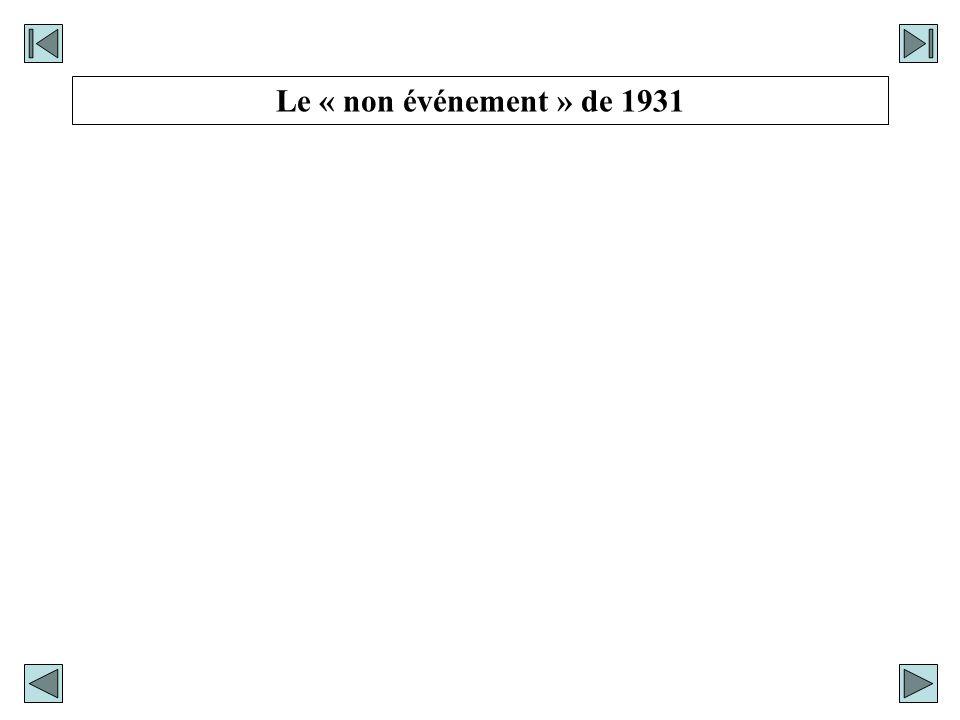 Le « non événement » de 1931