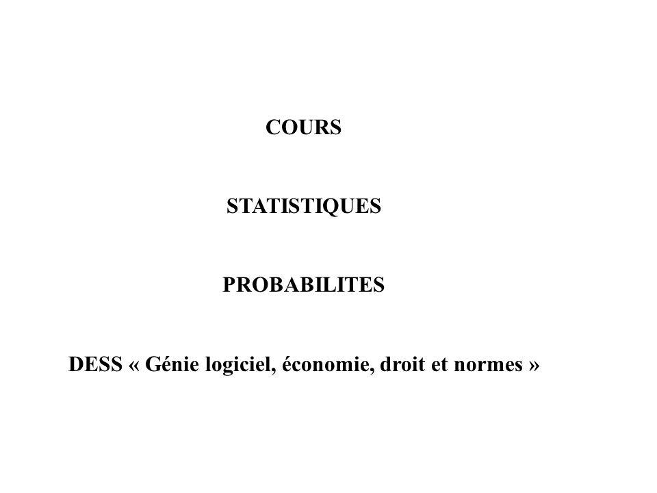 DESS « Génie logiciel, économie, droit et normes »