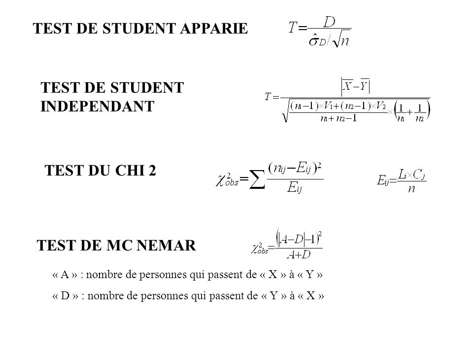TEST DE STUDENT APPARIE