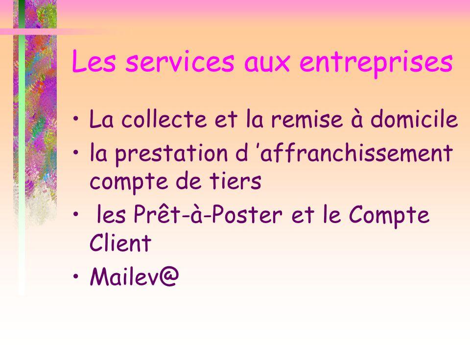 Les services aux entreprises