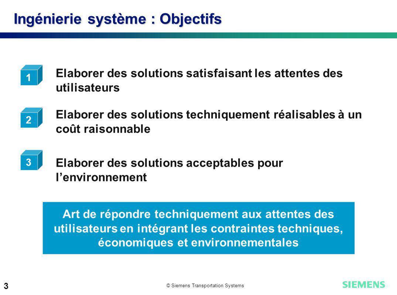 Ingénierie système : Objectifs