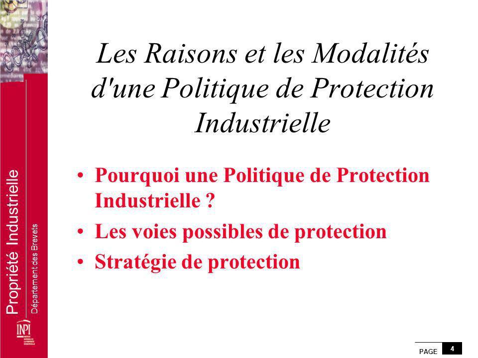 Les Raisons et les Modalités d une Politique de Protection Industrielle