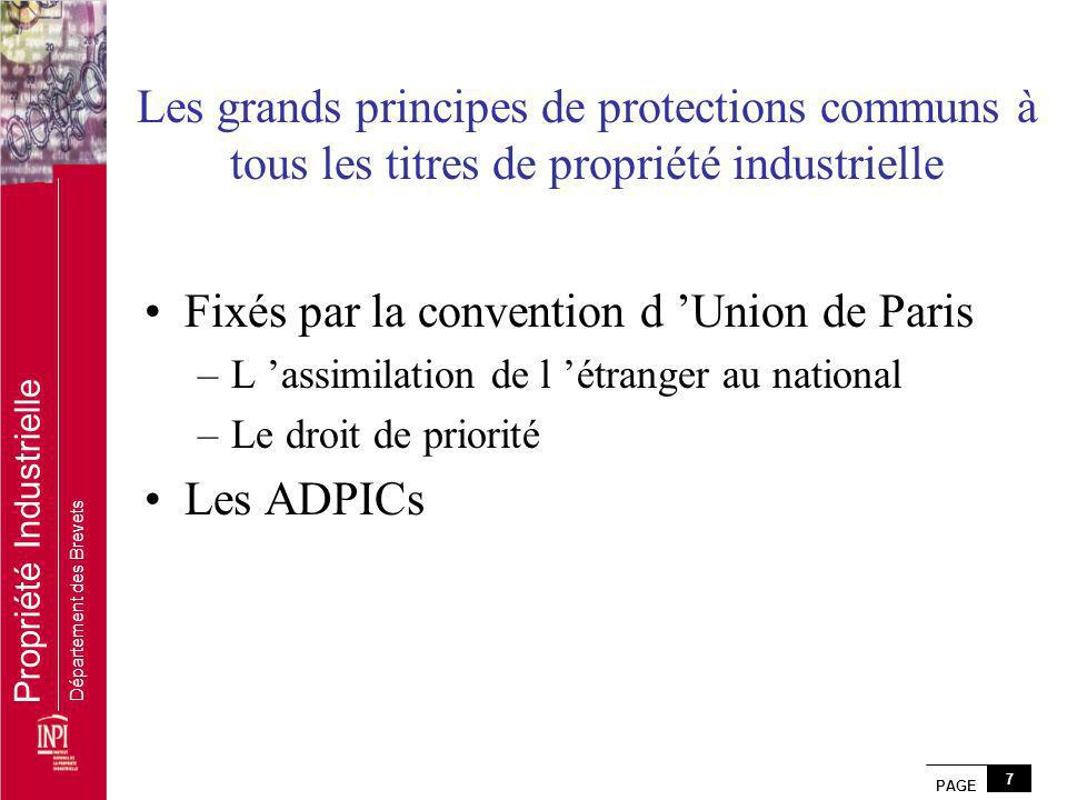 Fixés par la convention d 'Union de Paris