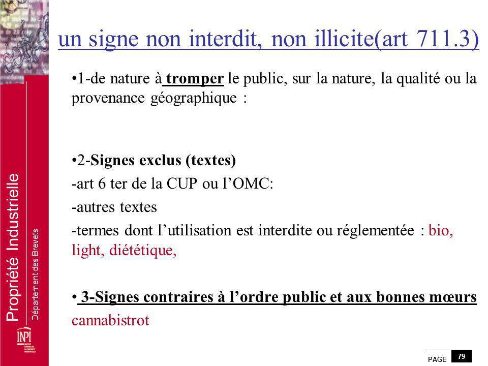 un signe non interdit, non illicite(art 711.3)