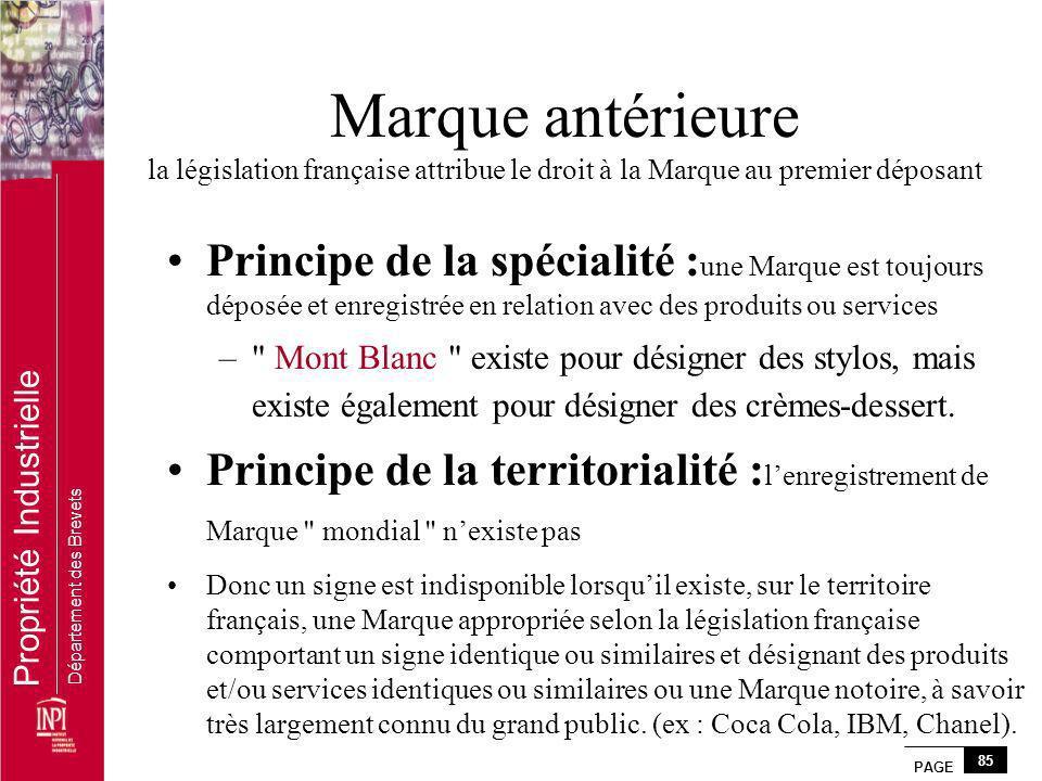 Marque antérieure la législation française attribue le droit à la Marque au premier déposant