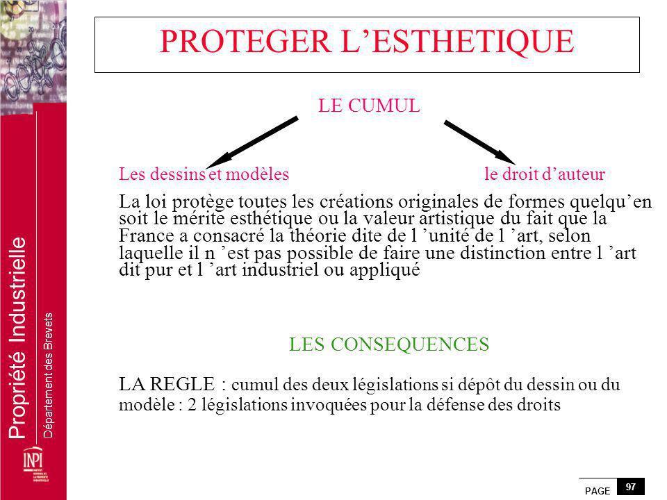 PROTEGER L'ESTHETIQUE