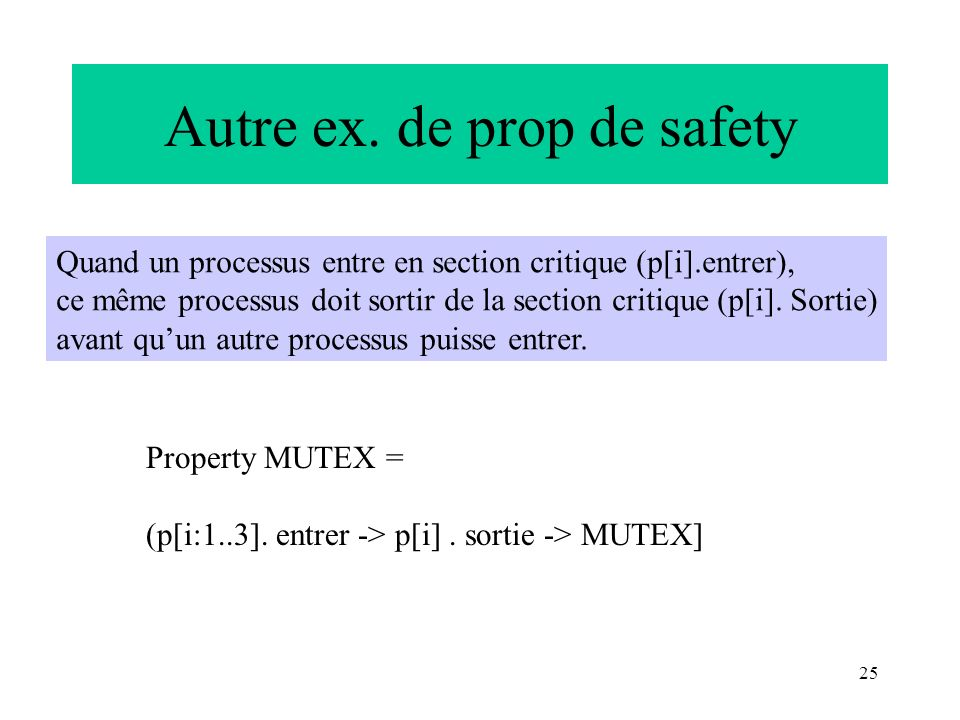 Autre ex. de prop de safety