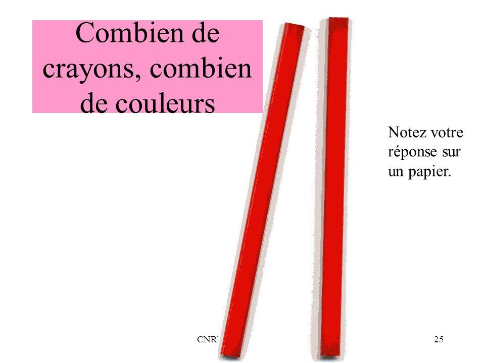 Combien de crayons, combien de couleurs