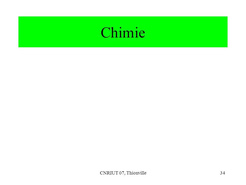 Chimie CNRIUT 07, Thionville