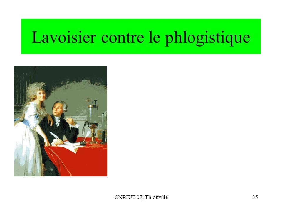 Lavoisier contre le phlogistique