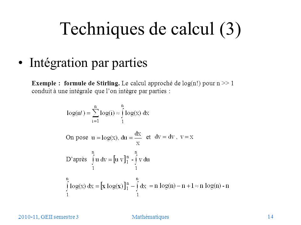 Techniques de calcul (3)