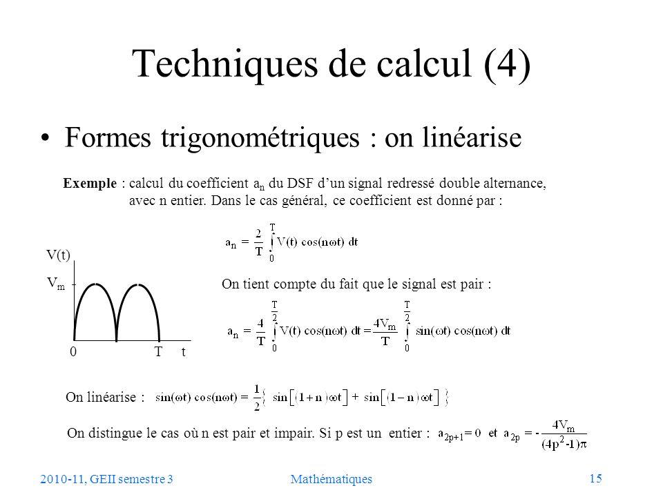 Techniques de calcul (4)