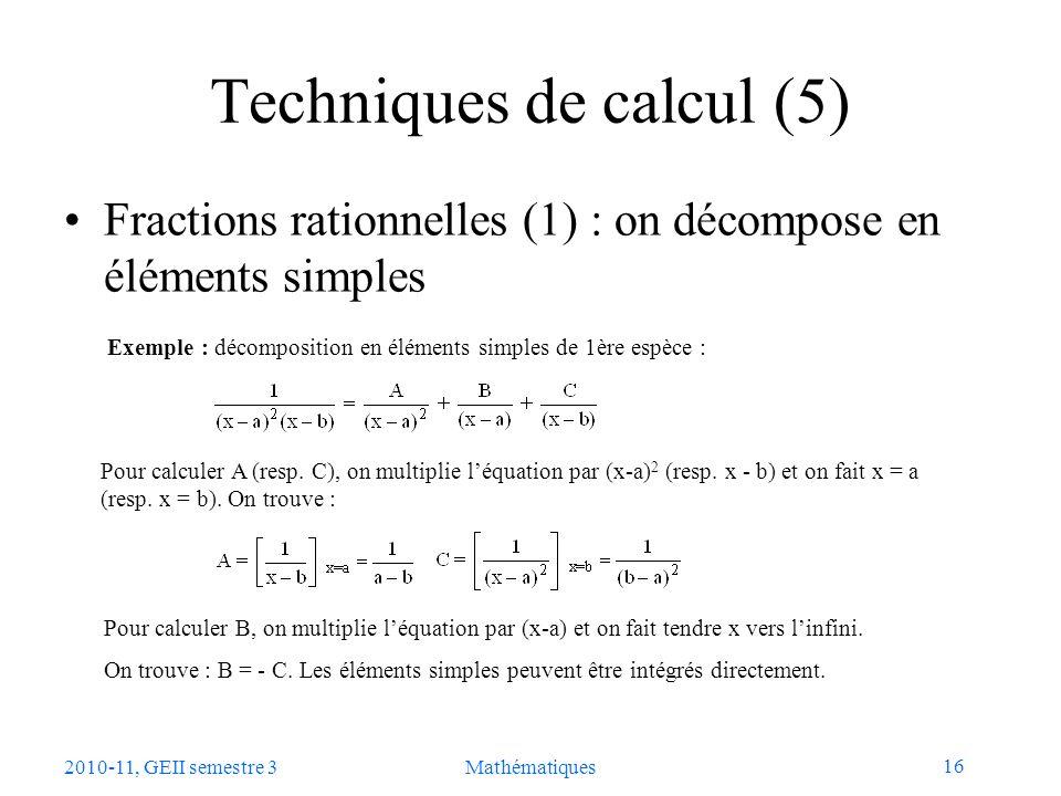 Techniques de calcul (5)