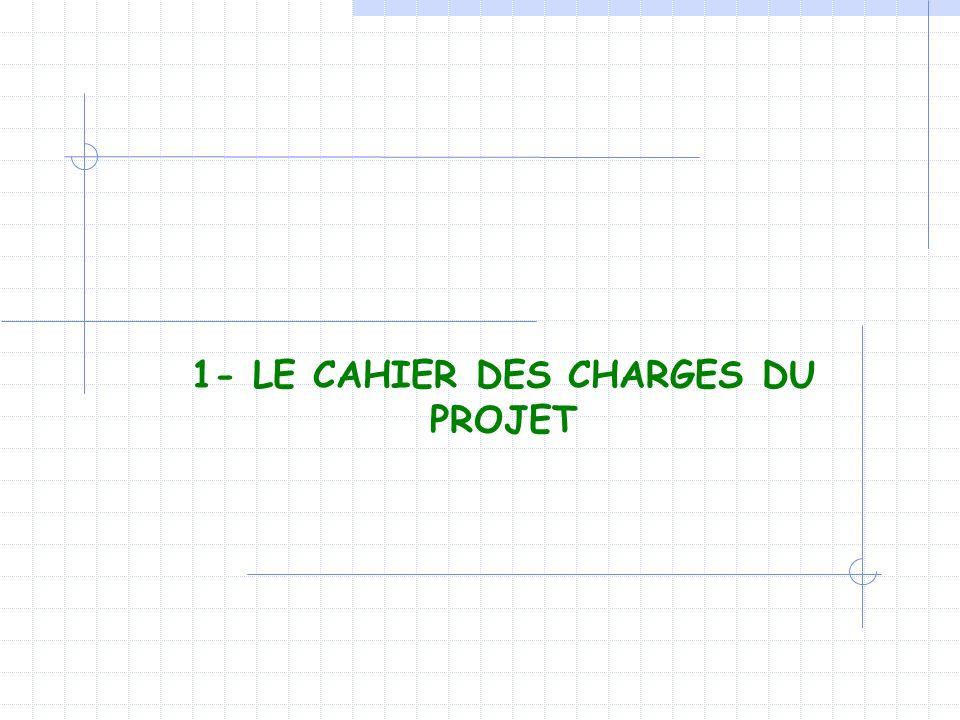 1- LE CAHIER DES CHARGES DU PROJET
