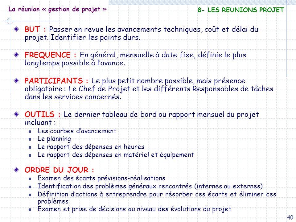 La réunion « gestion de projet »