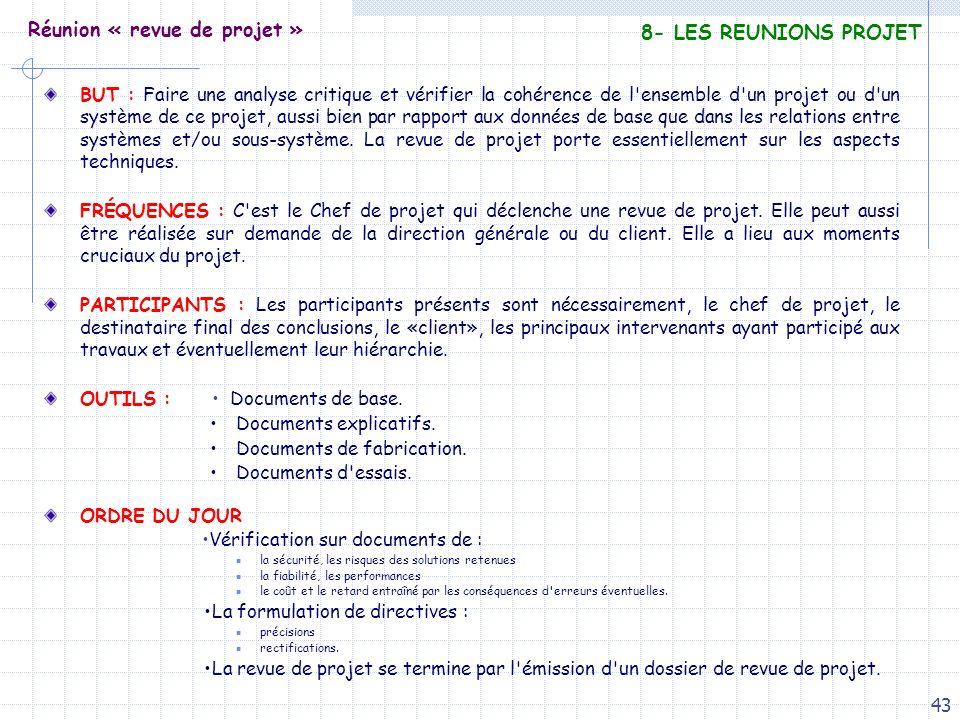 Réunion « revue de projet »