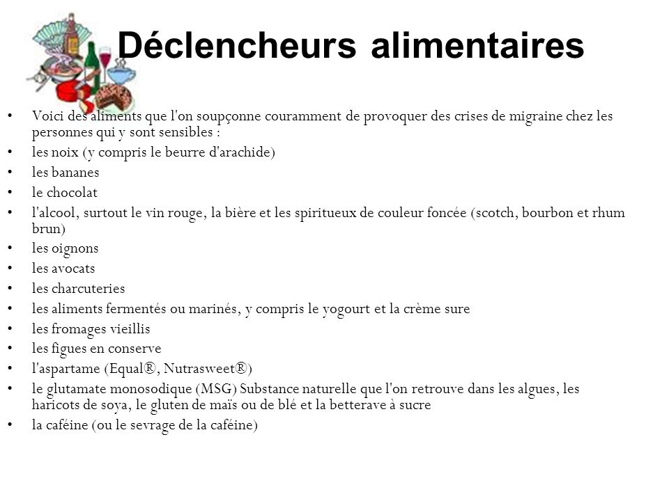 Déclencheurs alimentaires