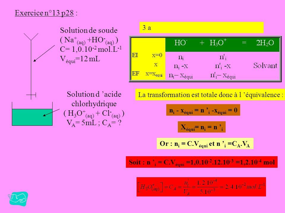 Solution d 'acide chlorhydrique