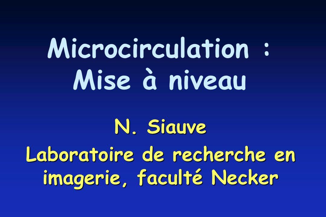 Microcirculation : Mise à niveau