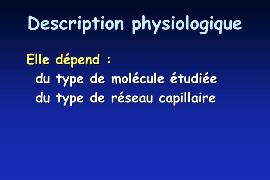 Description physiologique