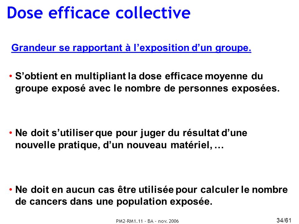 Dose efficace collective