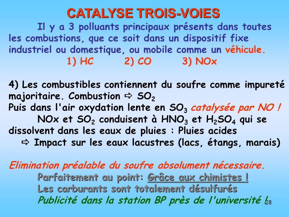 CATALYSE TROIS-VOIES