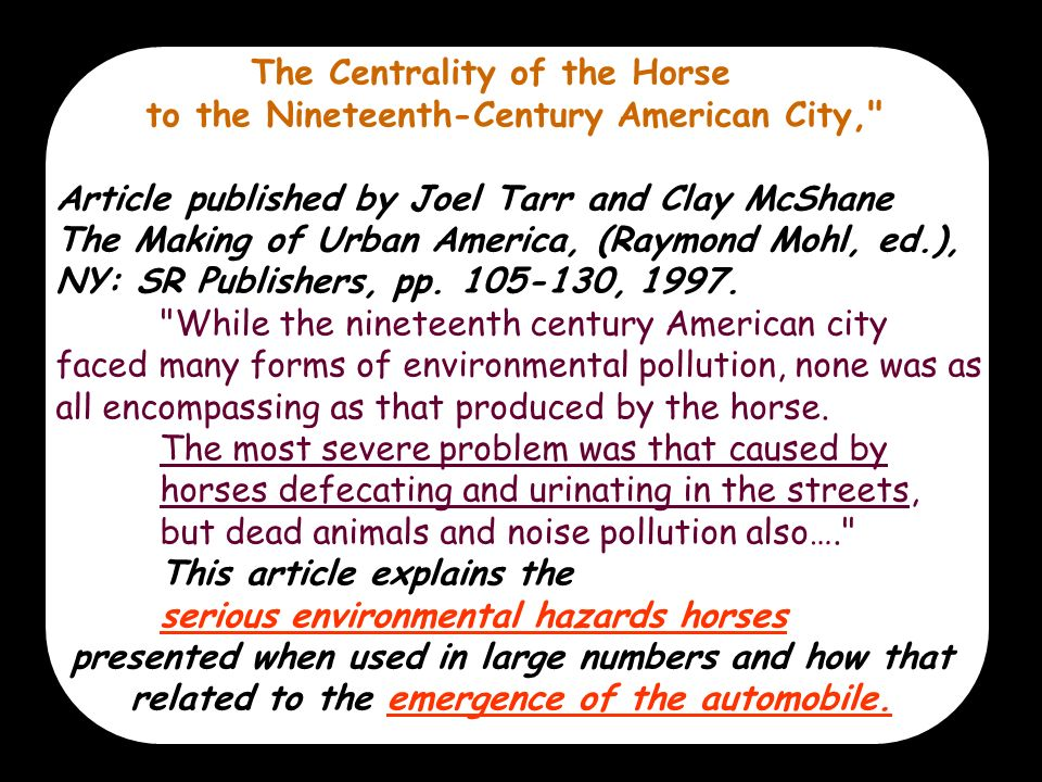 The Centrality of the Horse