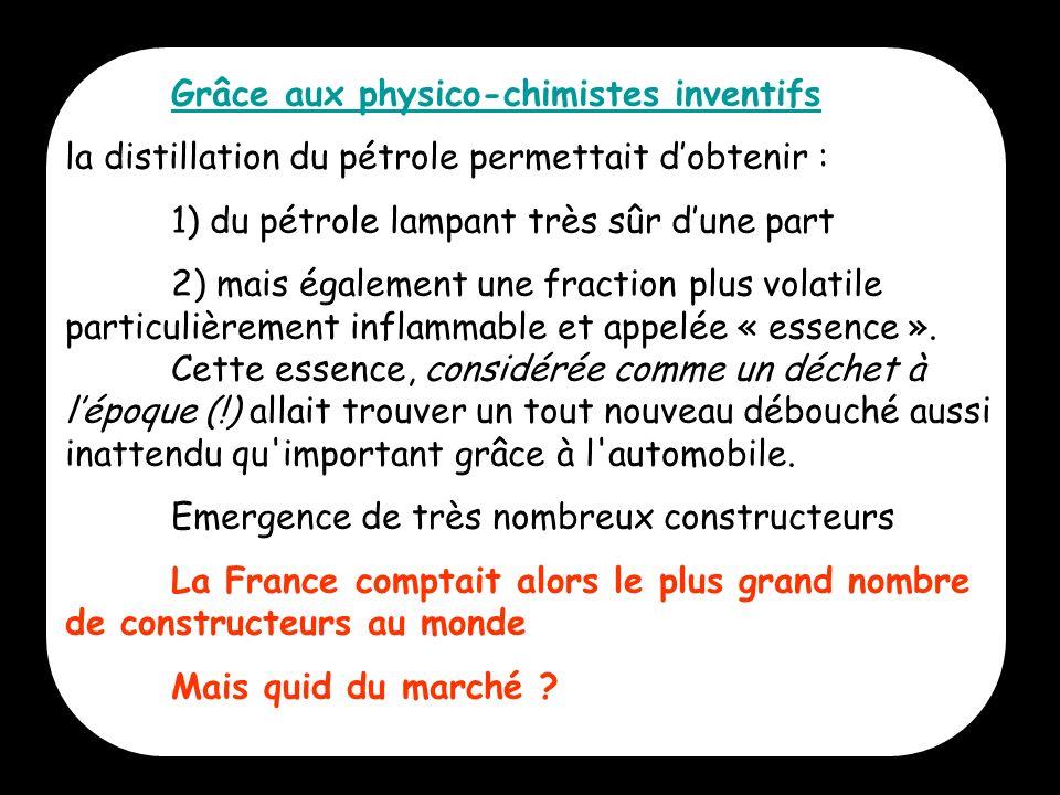 Grâce aux physico-chimistes inventifs