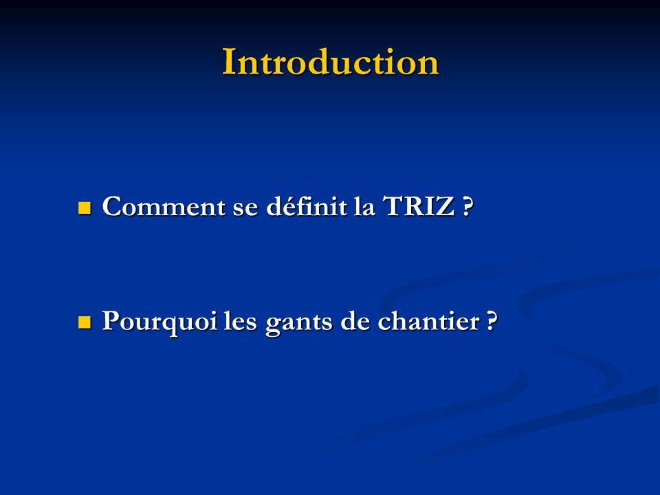 Introduction Comment se définit la TRIZ