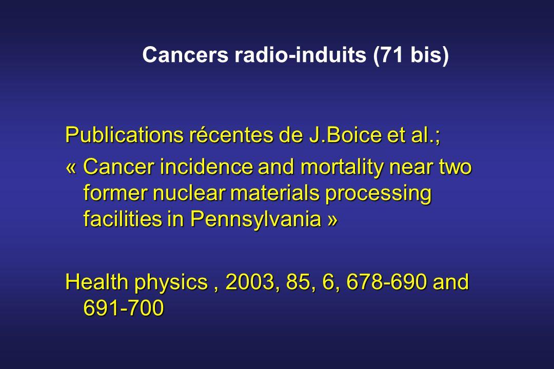 Cancers radio-induits (71 bis)