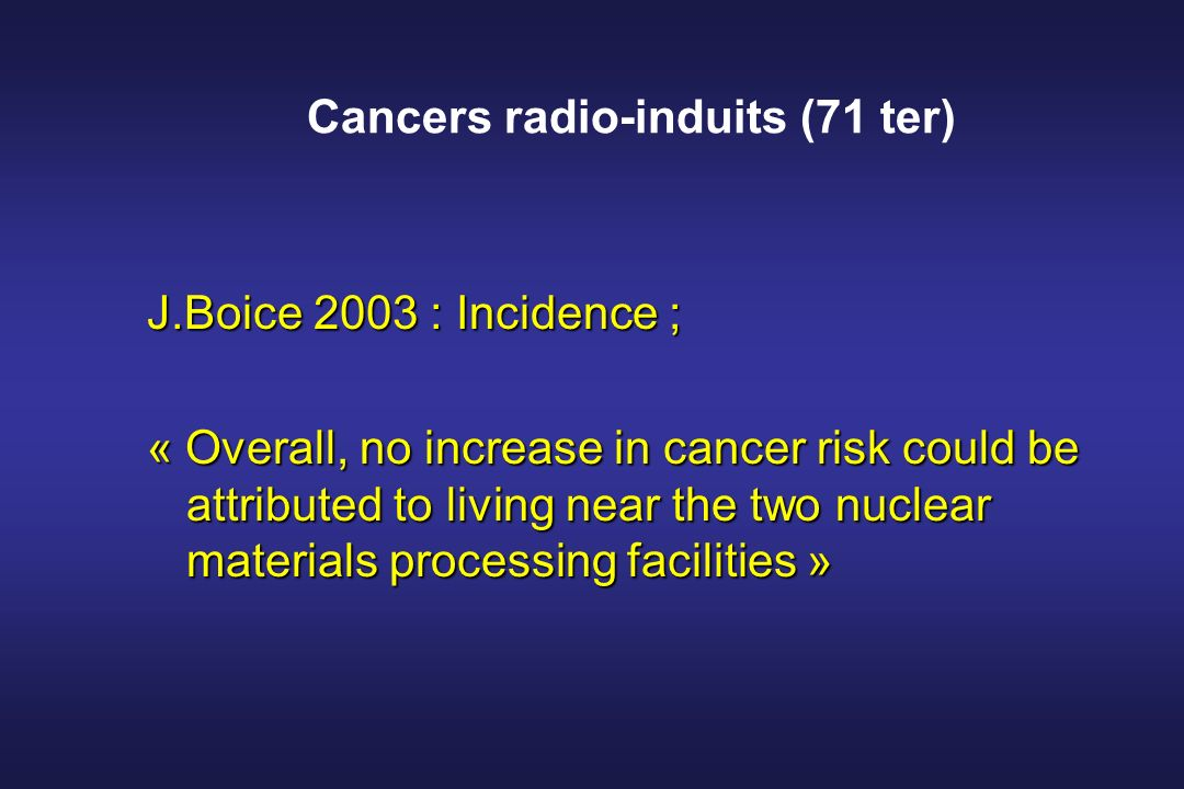 Cancers radio-induits (71 ter)