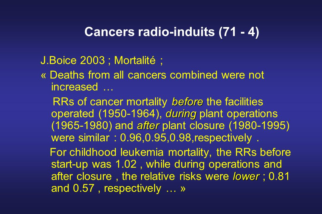 Cancers radio-induits (71 - 4)