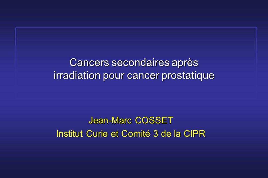 Cancers secondaires après irradiation pour cancer prostatique