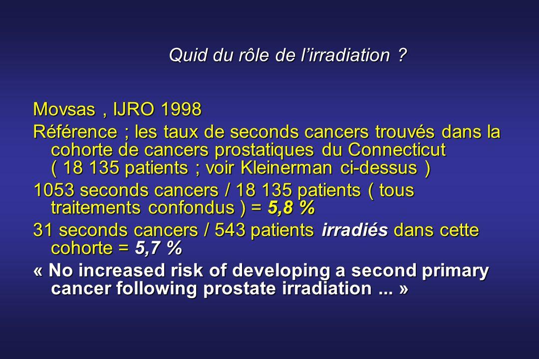 Quid du rôle de l'irradiation