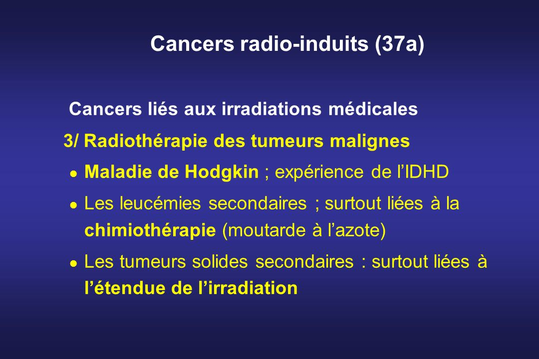Cancers radio-induits (37a)