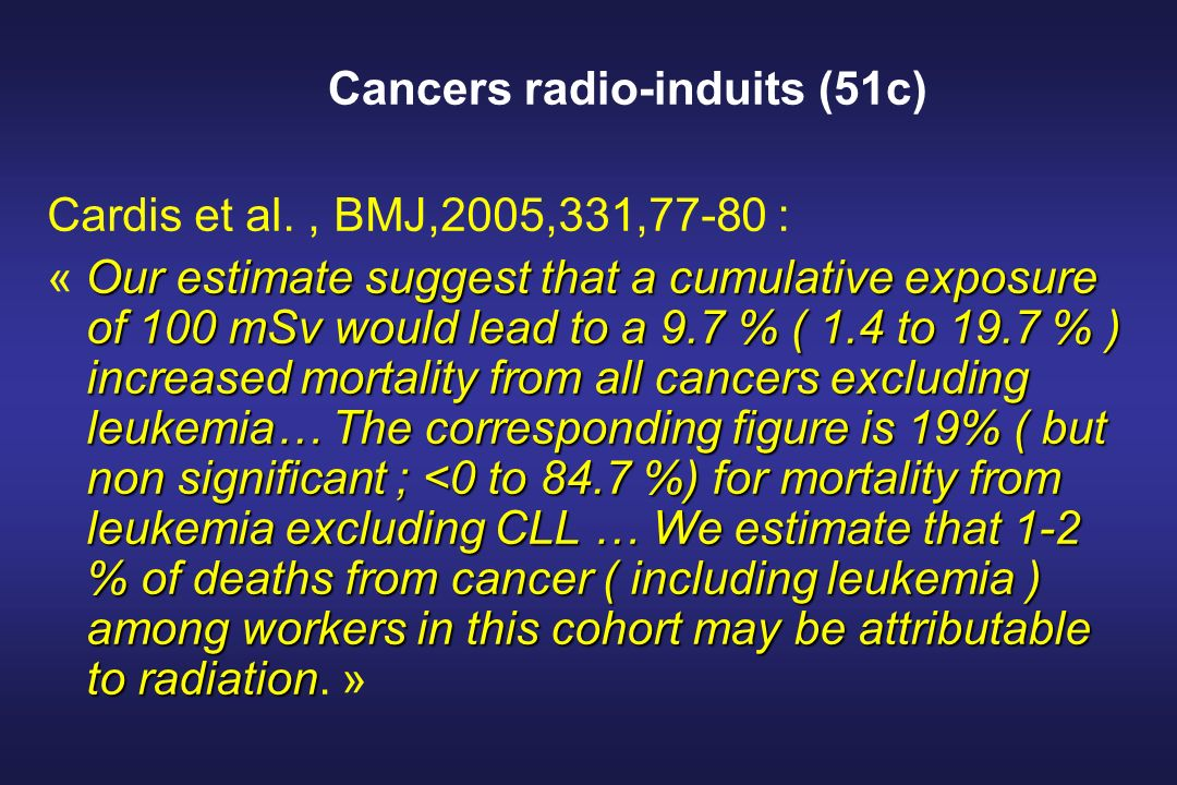 Cancers radio-induits (51c)