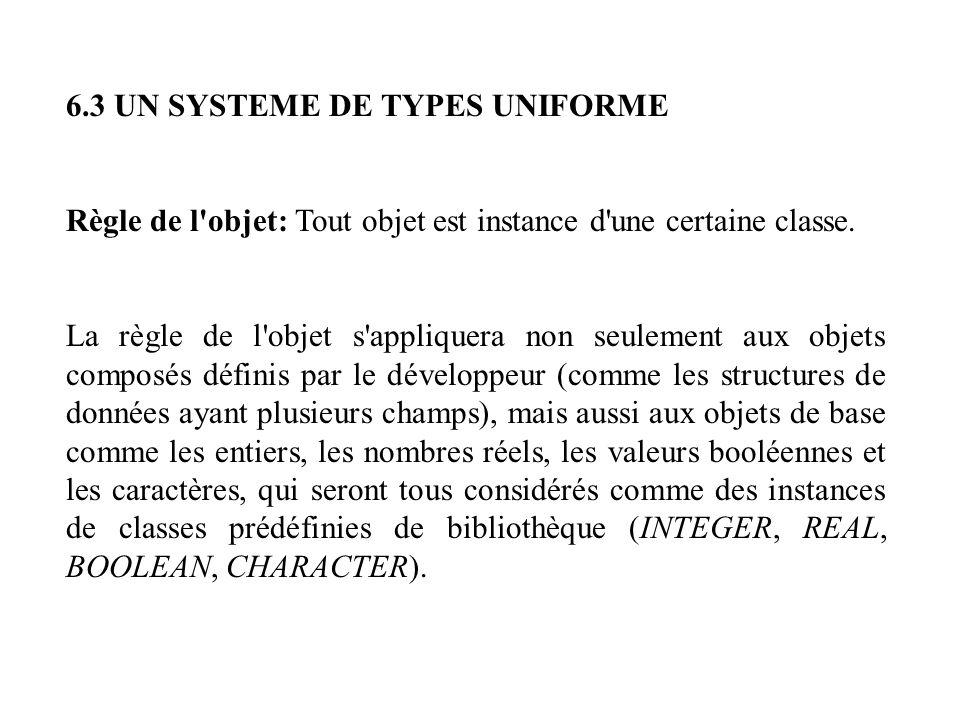 6.3 UN SYSTEME DE TYPES UNIFORME