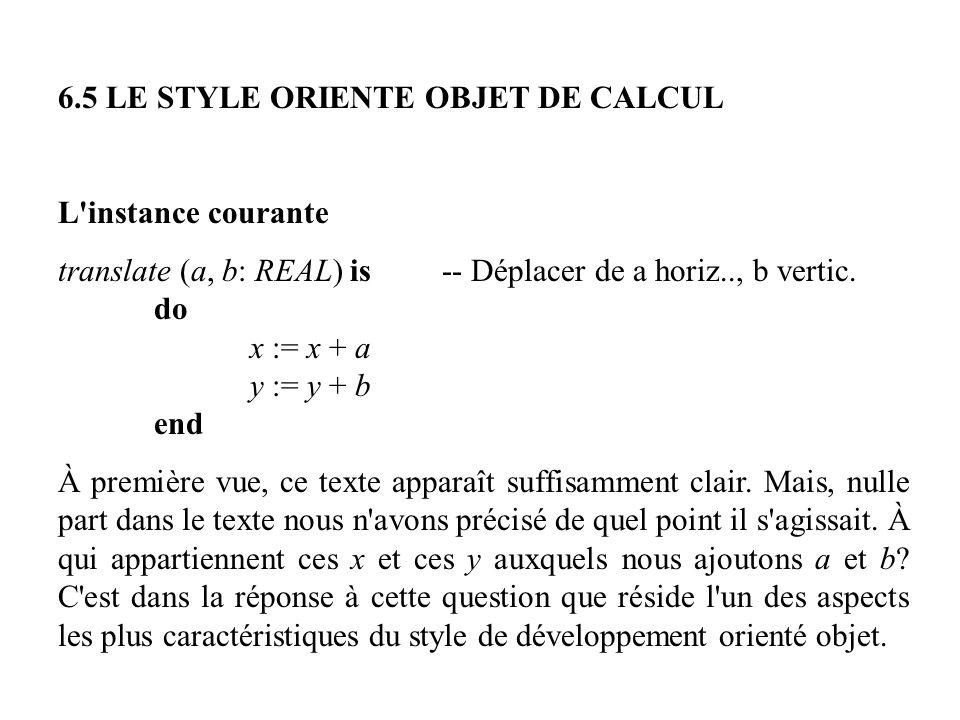6.5 LE STYLE ORIENTE OBJET DE CALCUL