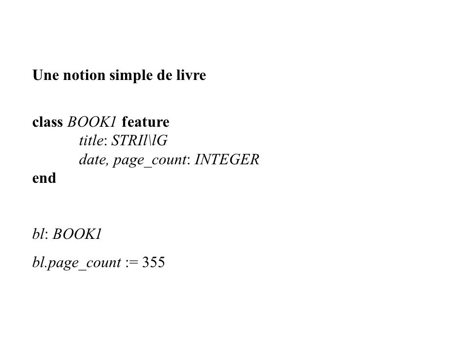 Une notion simple de livre