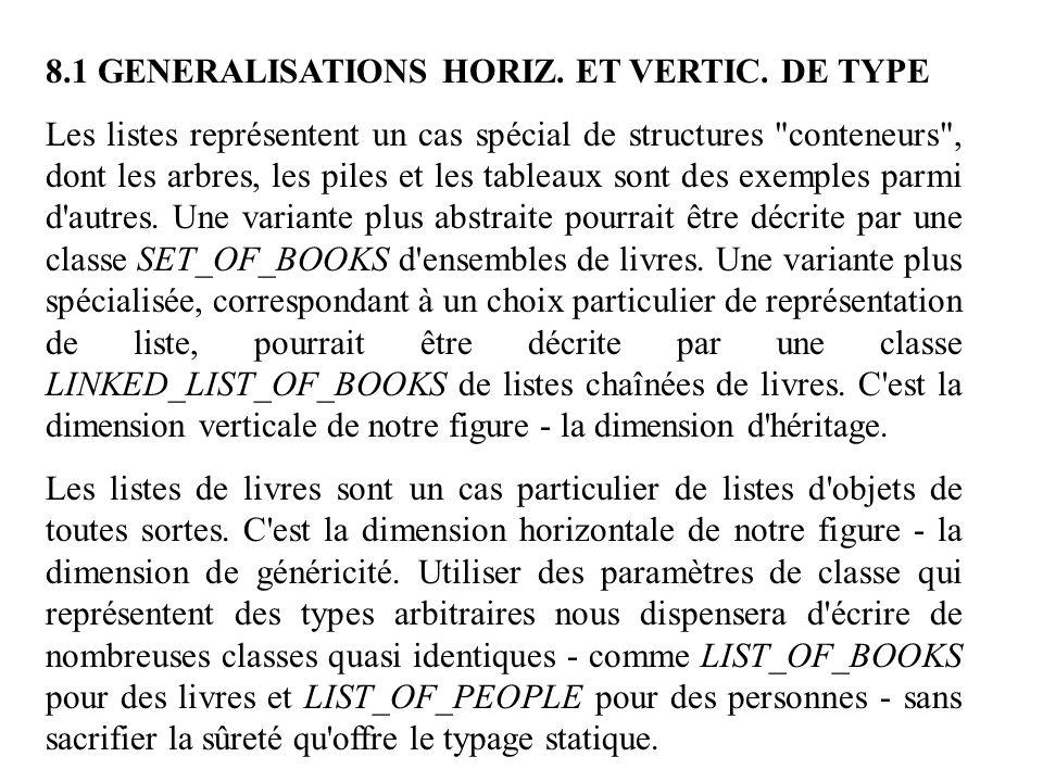 8.1 GENERALISATIONS HORIZ. ET VERTIC. DE TYPE
