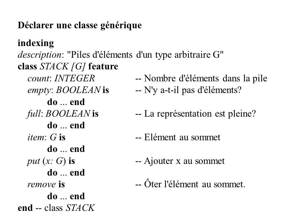 Déclarer une classe générique