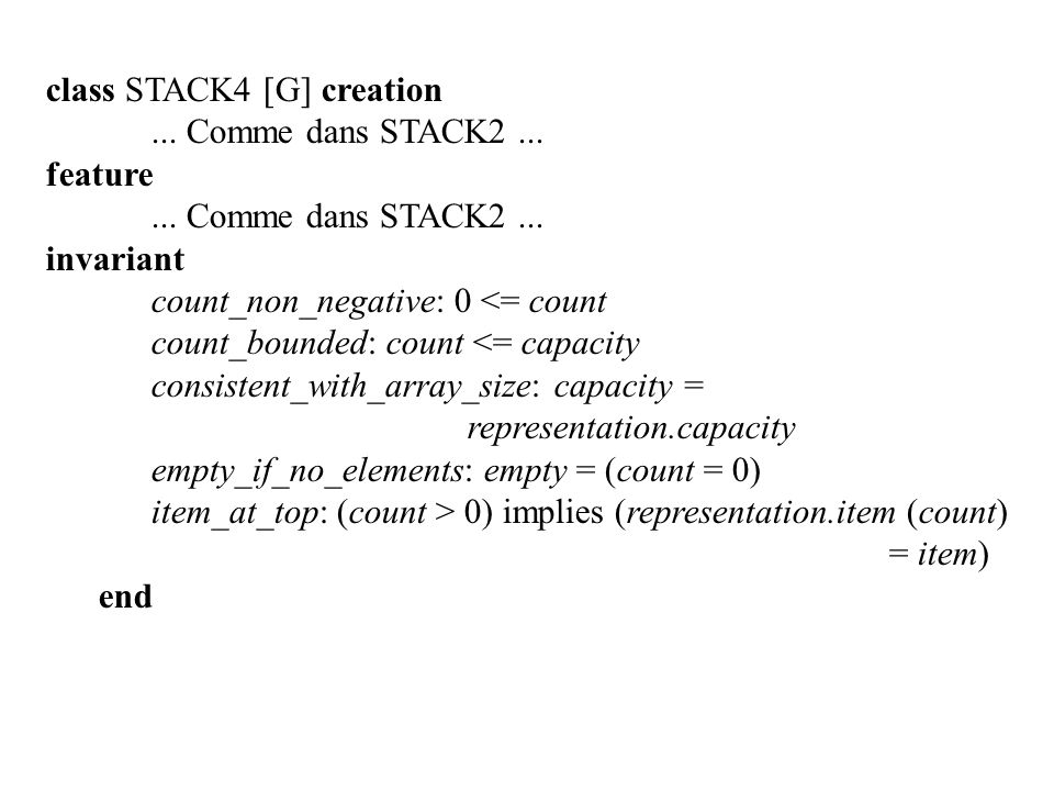 class STACK4 [G] creation