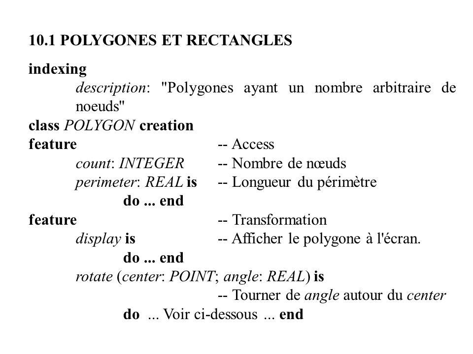 10.1 POLYGONES ET RECTANGLES