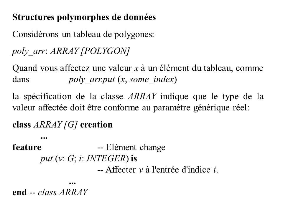 Structures polymorphes de données