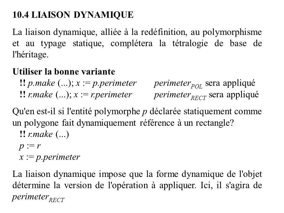 10.4 LIAISON DYNAMIQUE