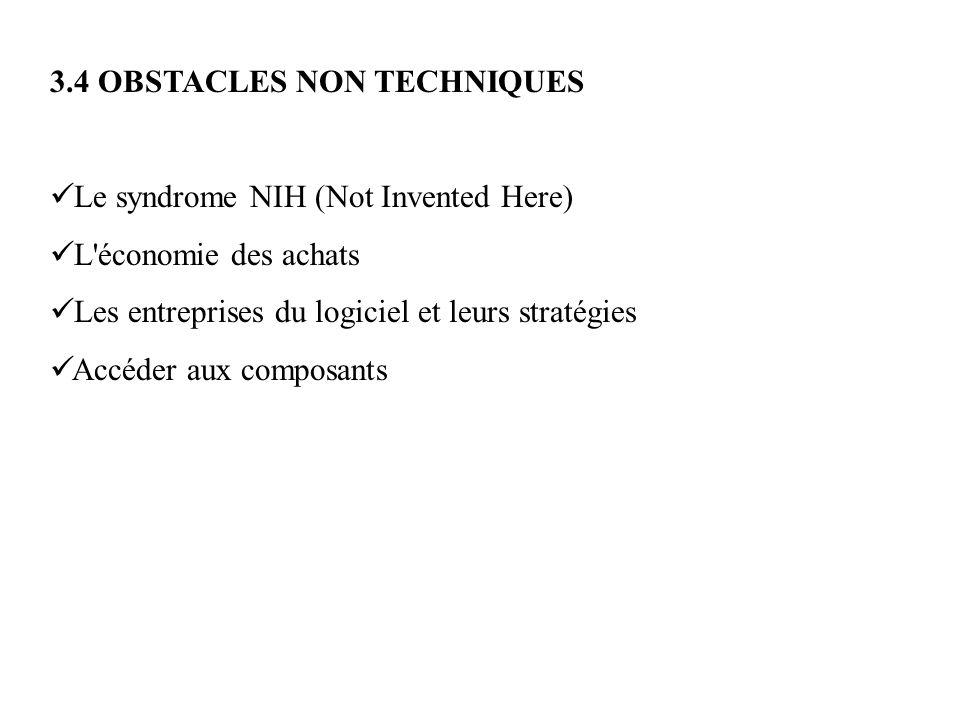 3.4 OBSTACLES NON TECHNIQUES