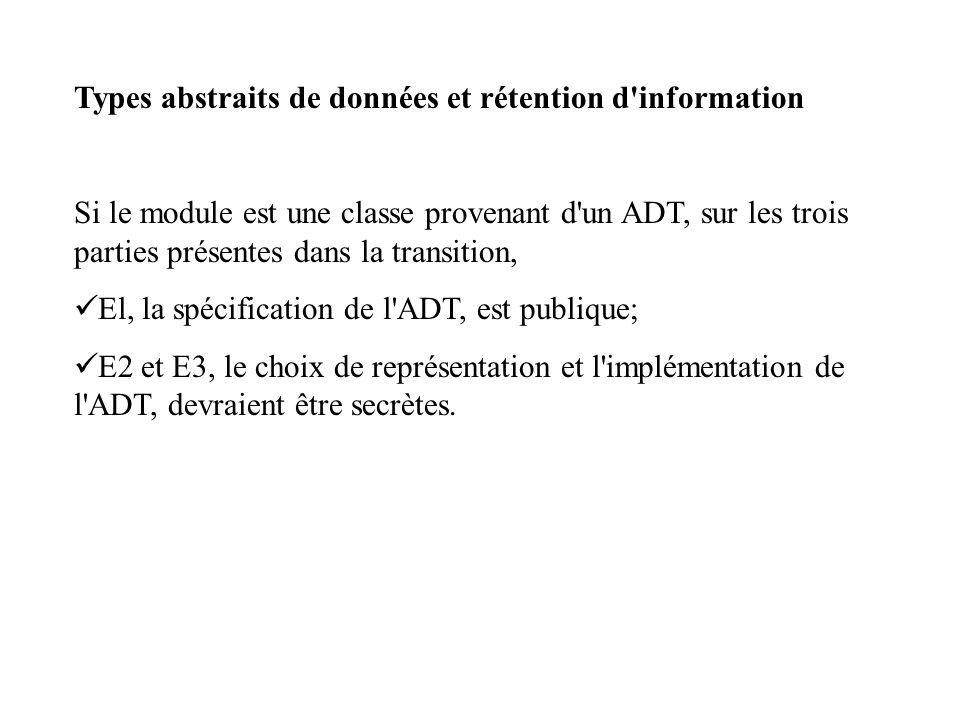Types abstraits de données et rétention d information
