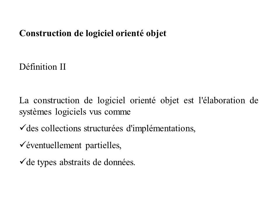 Construction de logiciel orienté objet