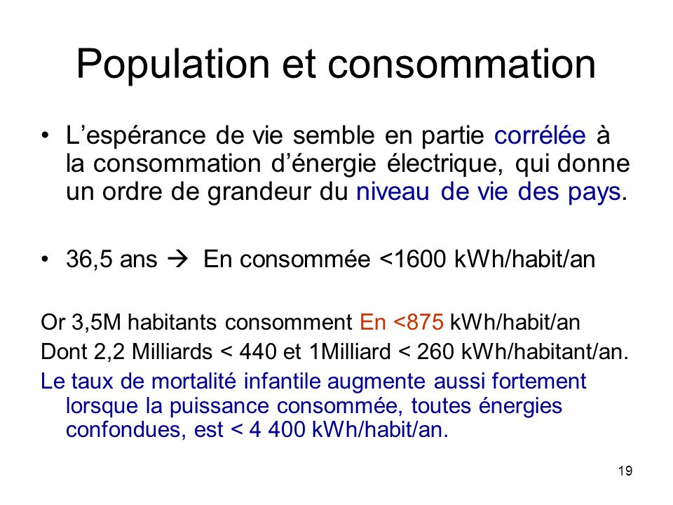 Population et consommation